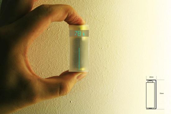 可以测出电池剩余电量的纸片 真是颠覆性的发明设计